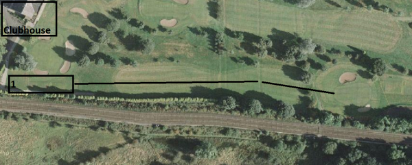 Satellite View - Keep it straight off the tee!