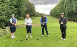 The first group of ladies and the lady captain