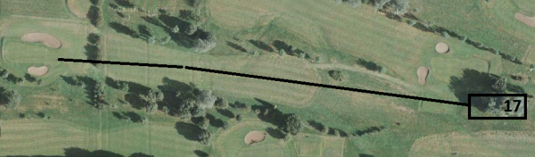 Satellite View - Long and narrow green!