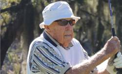 "The oldest golfer to get a ""Hole in One"" at 103 years of age! Extraordinary! I hope to be playing golf into my 90's at least!"