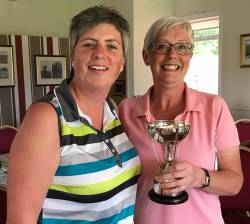 The away day trophy is presented to Linda