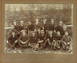 A group of members, Ryton Working Men's Club, 1895